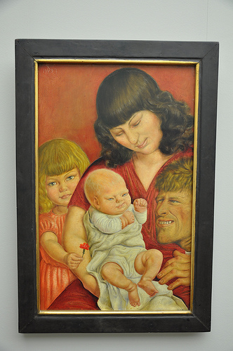 Otto Dix - Dadds Sentimental Affection towards His Babby Boy