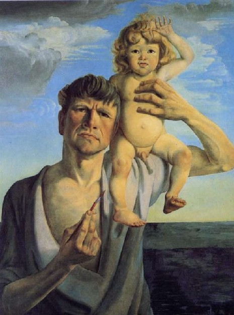 Otto Dix - Dadd's pathetic Pride For Producing a Son