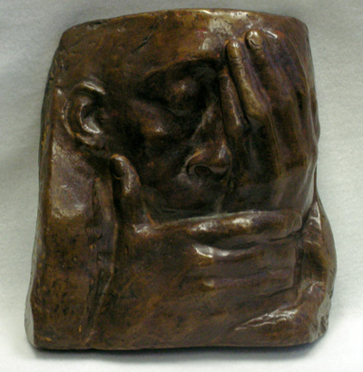 "Kathe Kollwitz, ""Lament"", (darkened)"