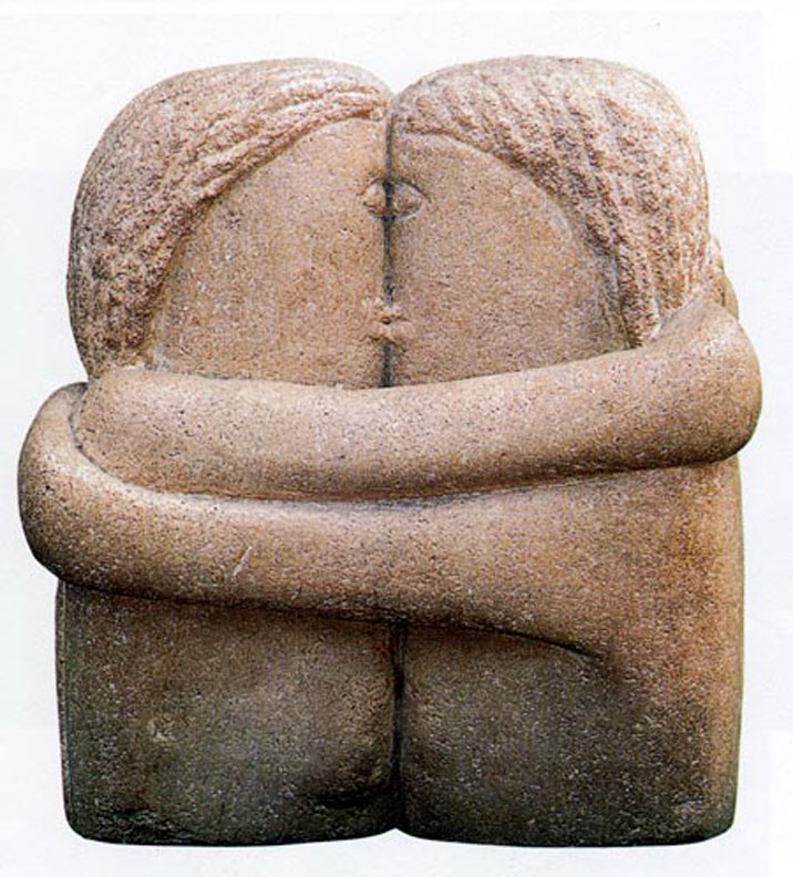 Konstantin Brancusi in his cycle of sculptures