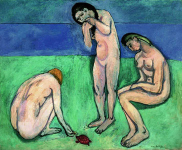 Matisse - Girls On Bright Meadow, Dark River, and Multi-tonal sky backdrops