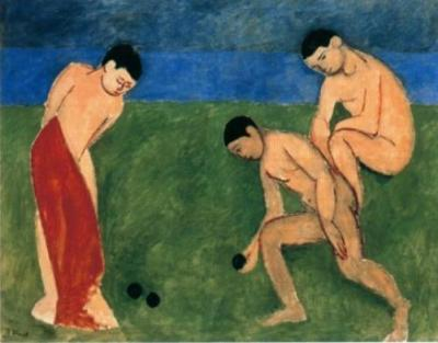 Matisse - Boys on the Bright Meadow, Dense River, and Multi-tonal Sky Backdrops