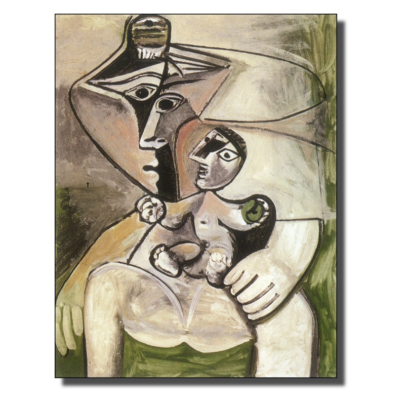 """Pablo Picasso\'s Two Late paintings: """"Mother and Child"""" (Aug. 30 ..."""