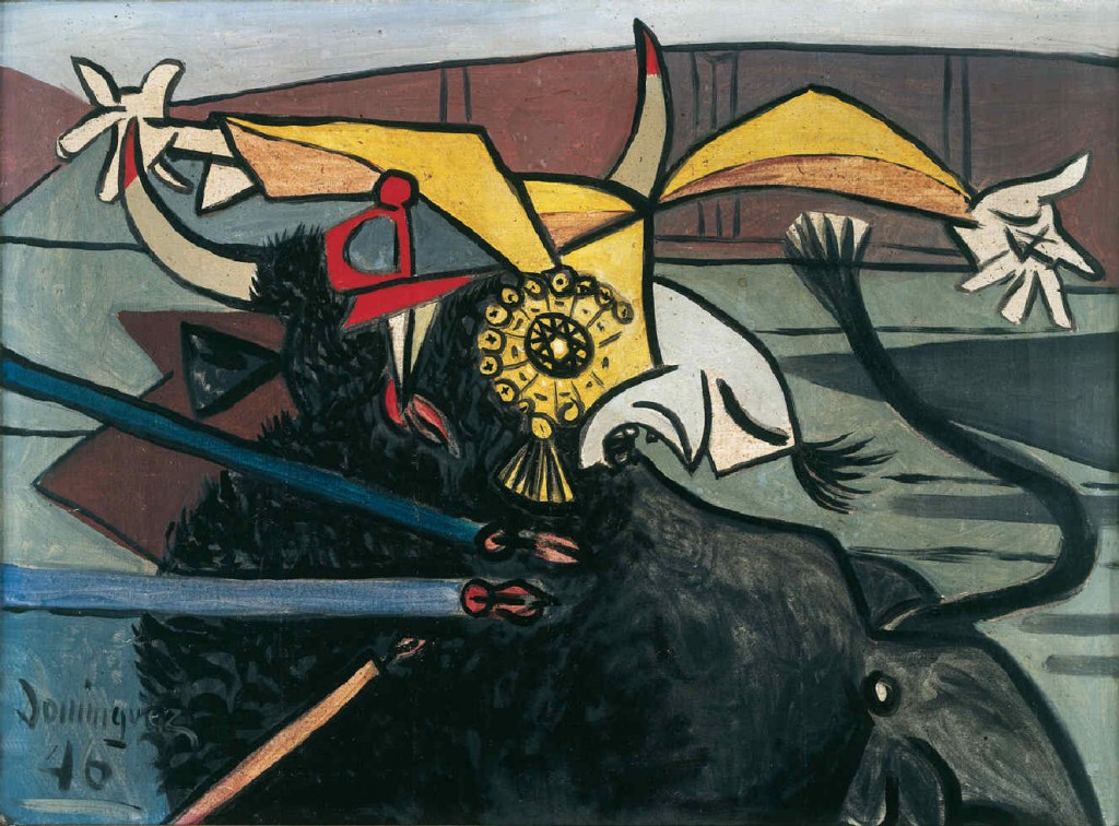 "Oscar Dominguez ""The Bull and the Toreador"" (1946)"