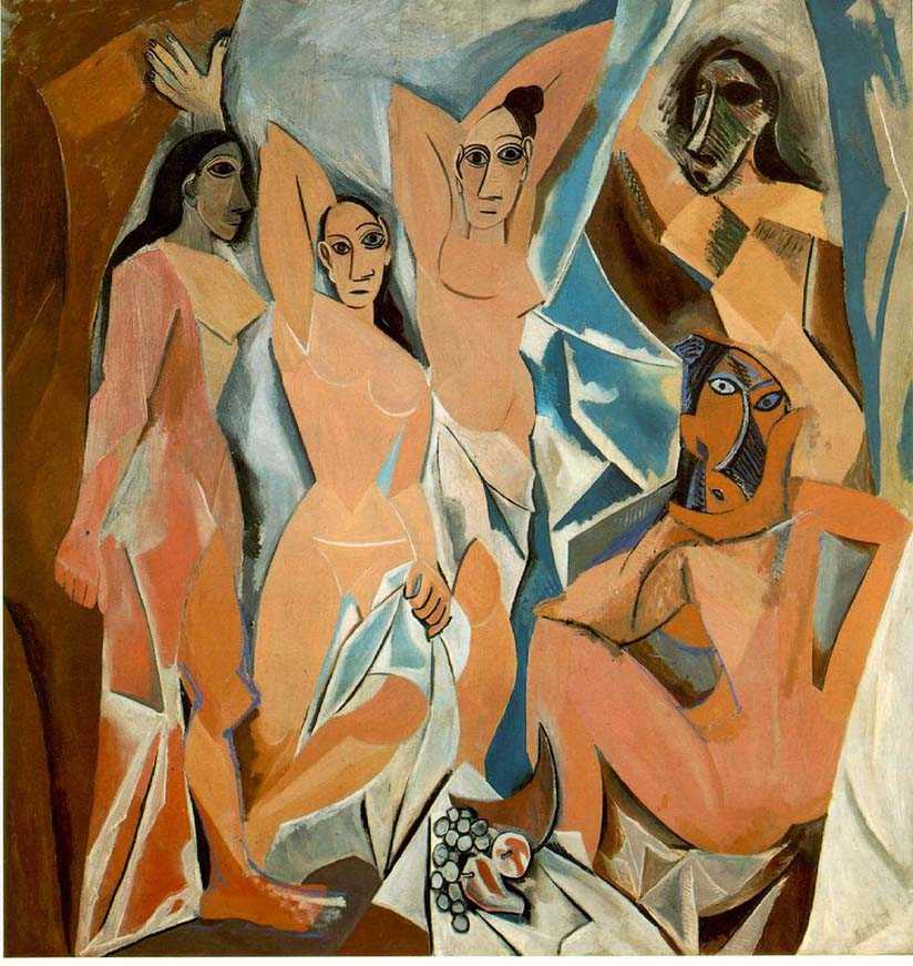 """Picasso, """"The Brothel on Avignon Street"""" in large format"""