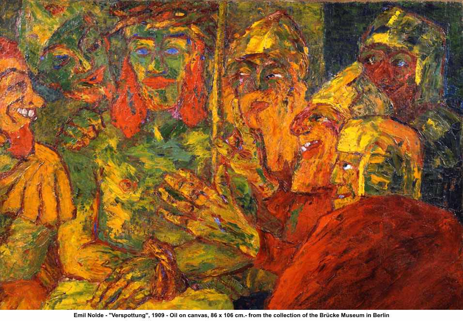 "Emil Nolde ""Verspottung"" (""Mocking of Christ by the Soldiers"")"