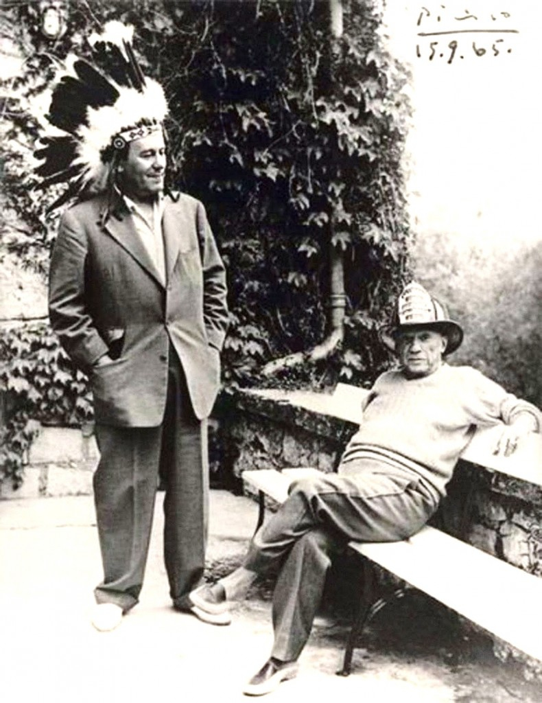 René Char with Pablo Picasso,1965