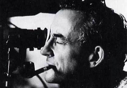 Louis Malle preparing the shot