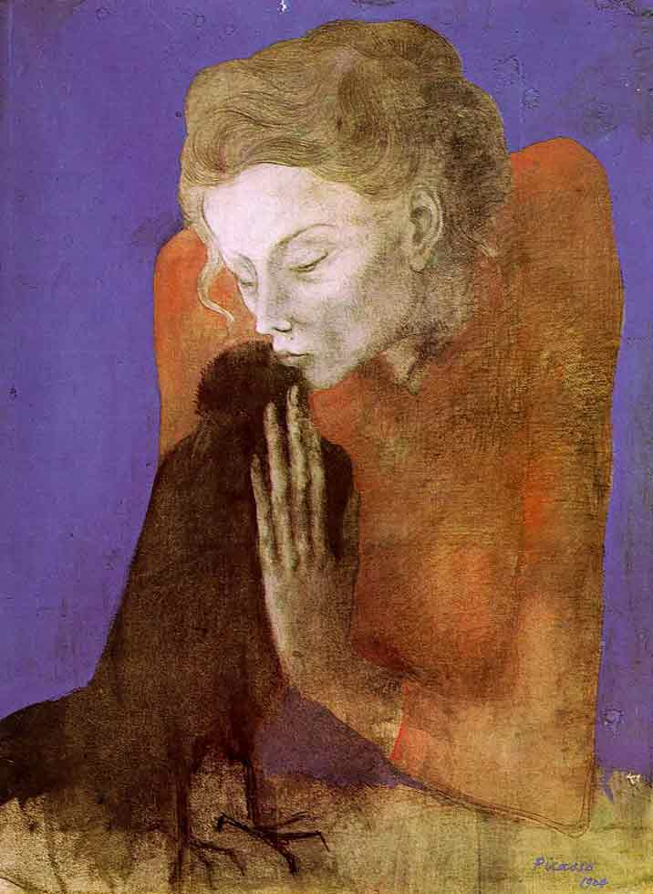 Pablo Picasso Woman With Crow 1904 Praying Between Life And