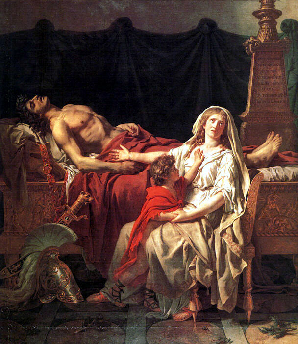 "Jacques-Louis David, ""Andromache Mourning Hector"""