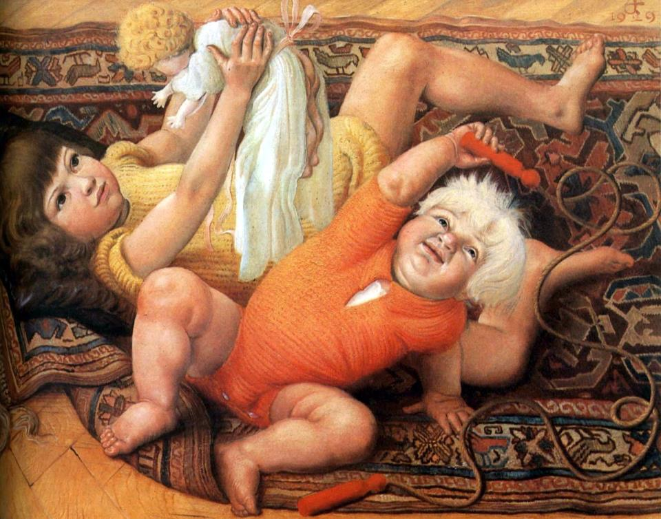 "Otto Dix, ""Children at Play"", 1929"