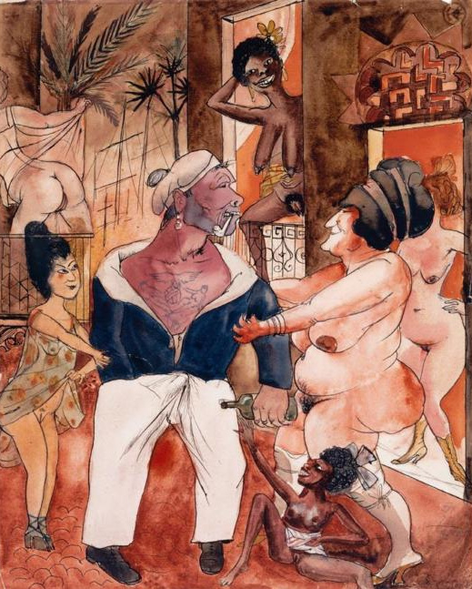 "Otto Dix, ""Exotic Brothel"", 1922"