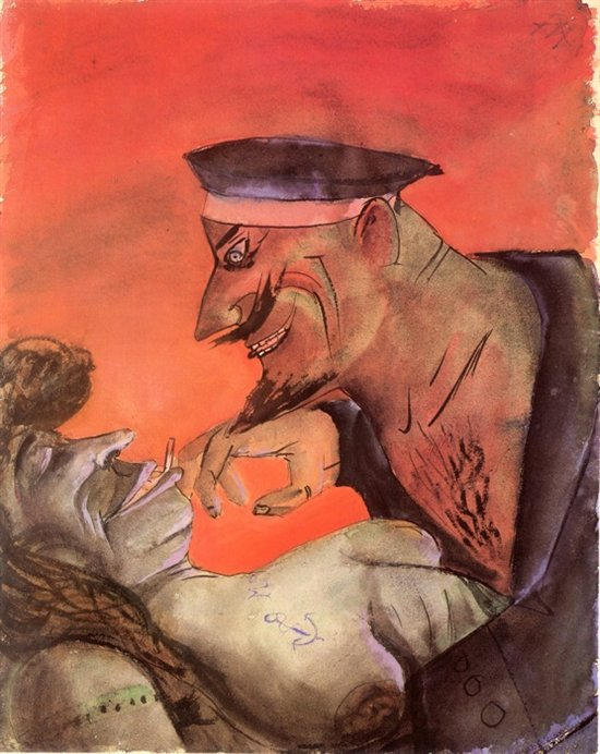 "Otto Dix, ""Sailor and Girl"", 1925"