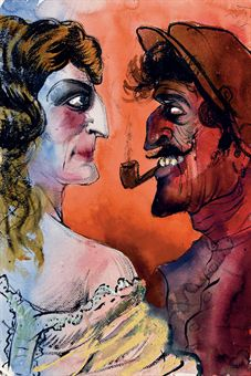 "Otto Dix, ""French Couple"", 1925"