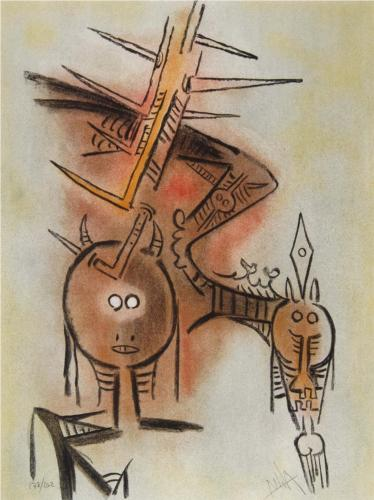 Wifredo Lam, Mother-monster producing the Human Head-Eggs