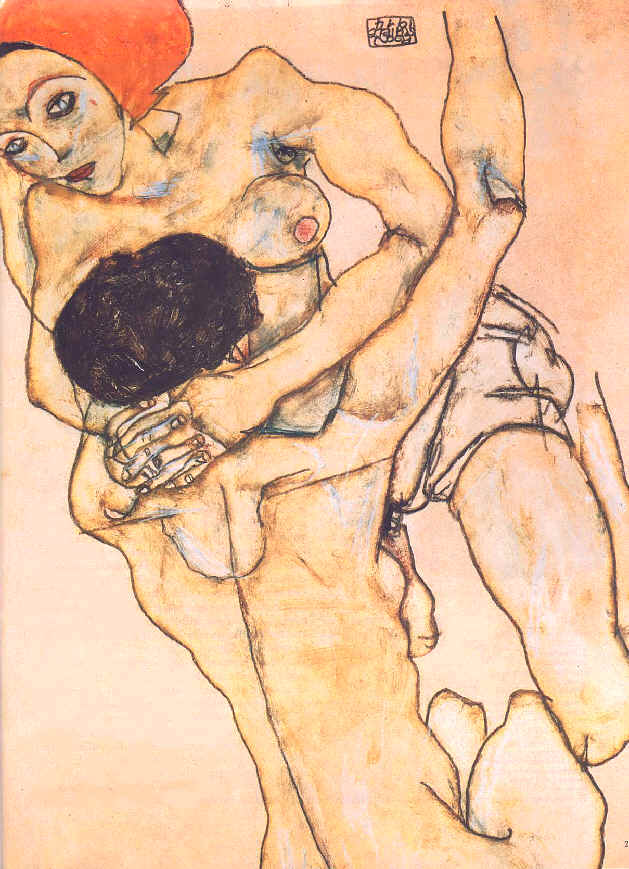 "Egon Schiele, ""Two Young Girls"""