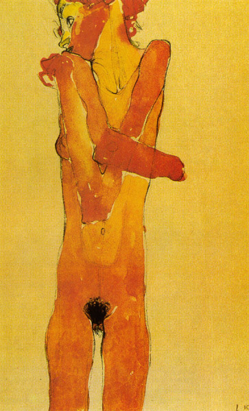 schiele-YounGirl1910