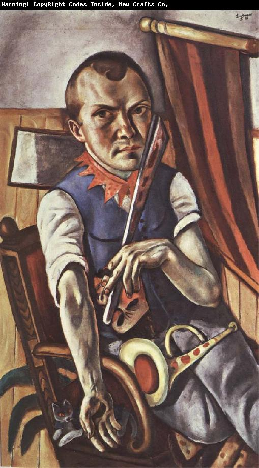 "Max Beckmann, ""Self-portrait as a Clown"" (1921)"