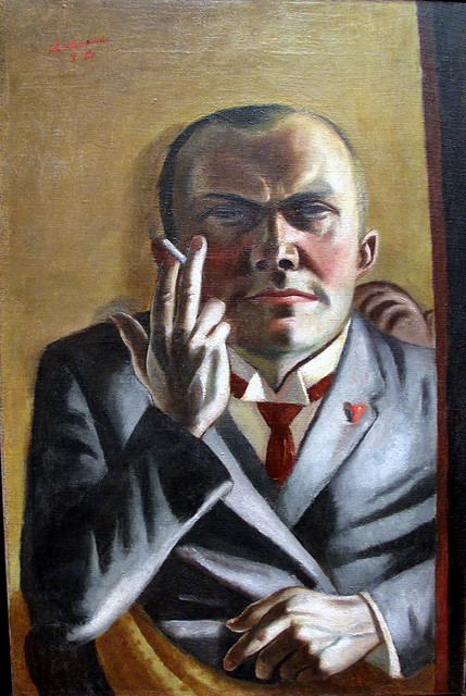 "Beckmann, ""Self-portrait with a Cigarette"" (1923)"