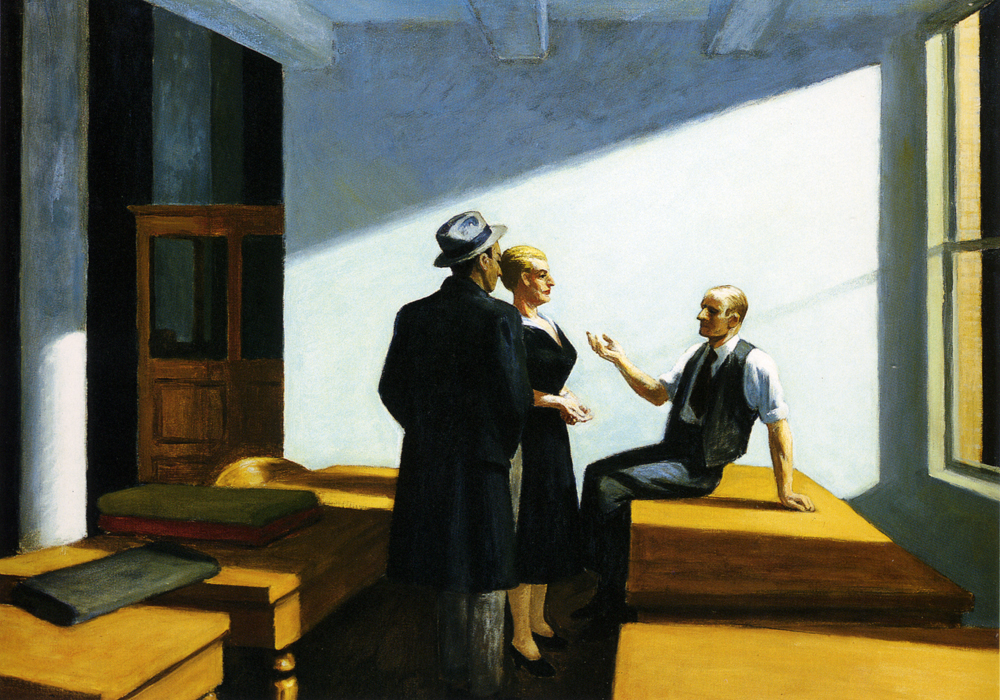 "Edward Hopper, ""Conference at Night"", 1949"