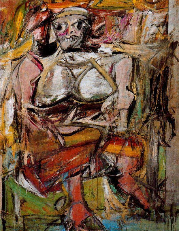 "Willem de Kooning, ""Woman 1"", 1950 - 1952"