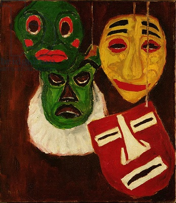Still Life with Masks IV, 1911 (oil on canvas)
