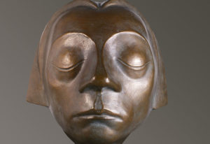 """Ernst Barlach, """"The Tormented Face of the Flying Angel with Closed Eyes"""", 1927"""