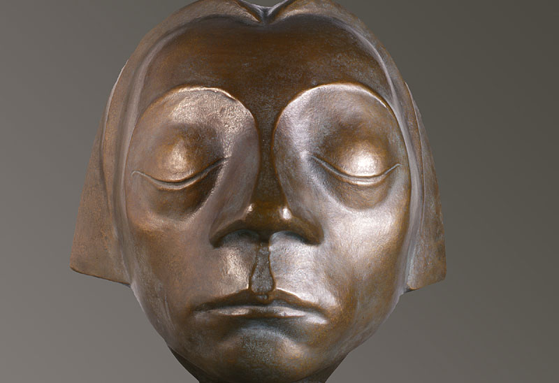 "Ernst Barlach, ""The Tormented Face of the Flying Angel with Closed Eyes"", 1927"
